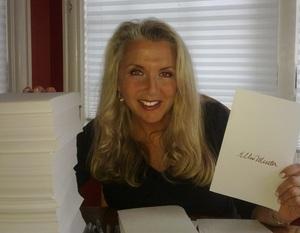 Ellen Meister signing pages